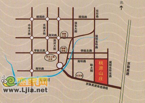 桃源山庄位于邯郸市老邯大公路以北,京珠高速西400米,由邯郸市北方房