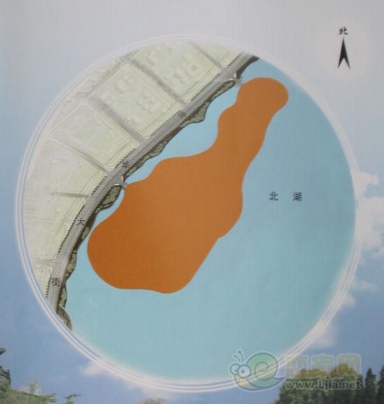 北湖1号岛地块位置示意图