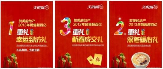 贺美的地产2013销售超百亿,美的城春节千万让利_活动