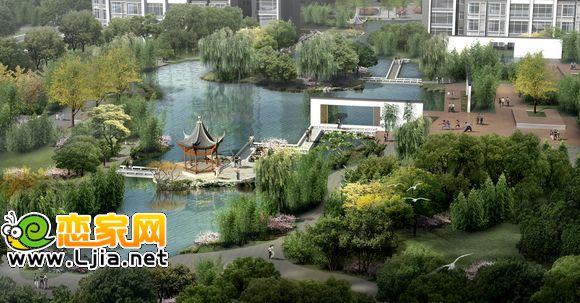 锦绣江南景观鸟瞰图