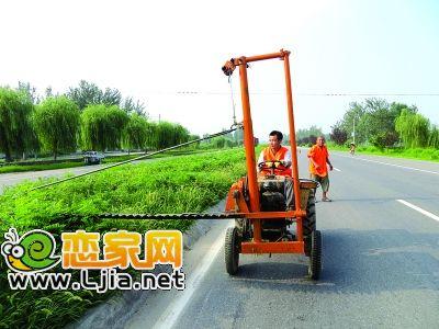 邱县一线养护工的新发明——绿篱修剪机