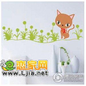 可爱的小猫墙贴 带来家居生活步步温馨