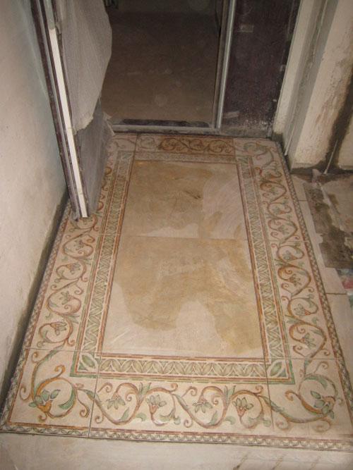 仿古砖过门石装修效果图