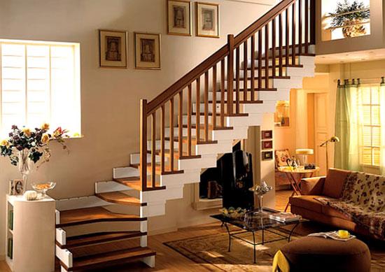 楼梯下面书架设计图