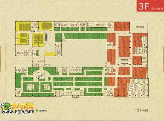阳光三龙商业广场3层平面图