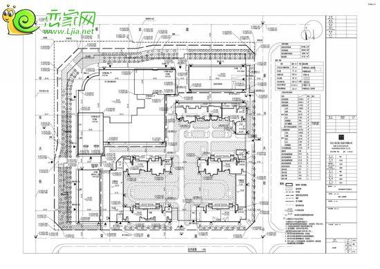 嘉泰中心项目建设工程设计方案总平面图