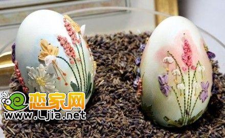鸡蛋壳也有春天 diy变身为精美家居艺术品