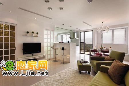 客厅电视背景墙装修欣赏,家庭简约电视墙如何装饰设计.对于