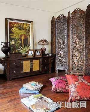 实木地板东南亚风格 贴近自然的感觉