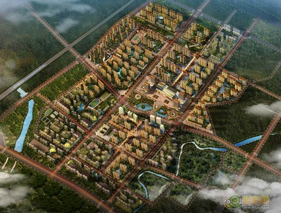赵都新城整体规划图