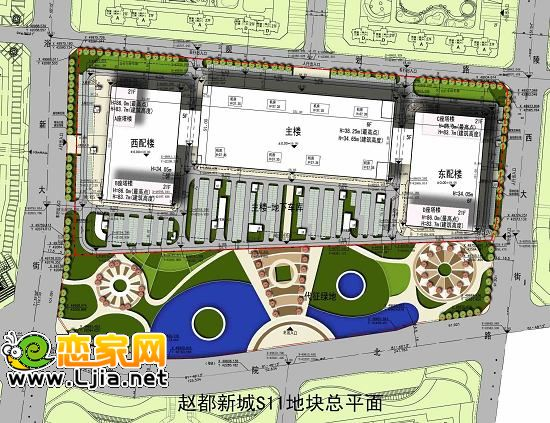 邯郸市规划局关于赵都新城S11地块项目总平面图的公示 规划公示