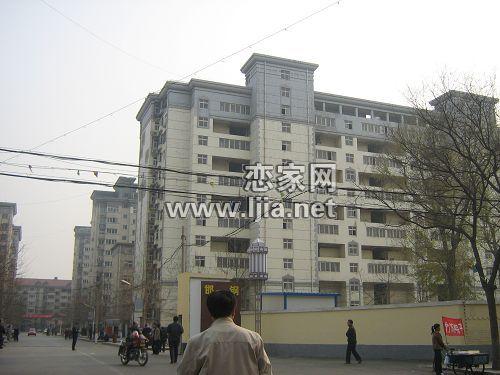 邯钢农林路生活区高层住宅楼实景图 高清图片