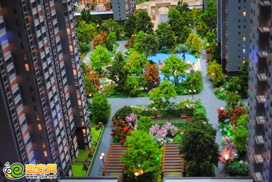 盛瑞华庭园林景观沙盘图图片