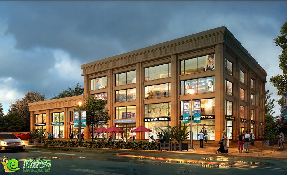 现代奥城沿街商铺效果图高清图片