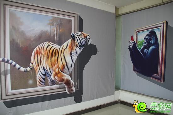 活灵活现的3d立体画艺术——动物图片