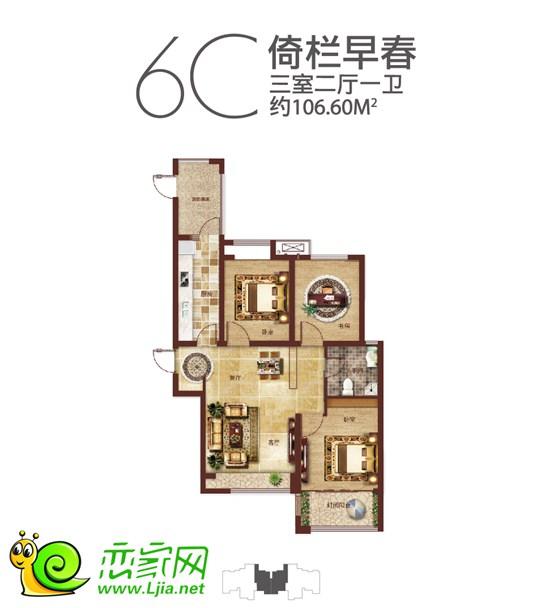 江南锦苑户型由80平米的两居室,92-135的三居室构成,并根据一家三代的