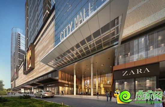 环球中心入口效果图-龙湖公园旁的商业综合体 环球中心效果图最新发布