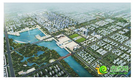 东部新城规划效果图