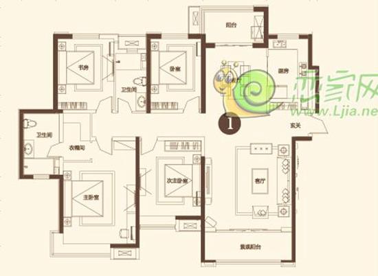 美的城200㎡四室两厅两卫户型点评图片