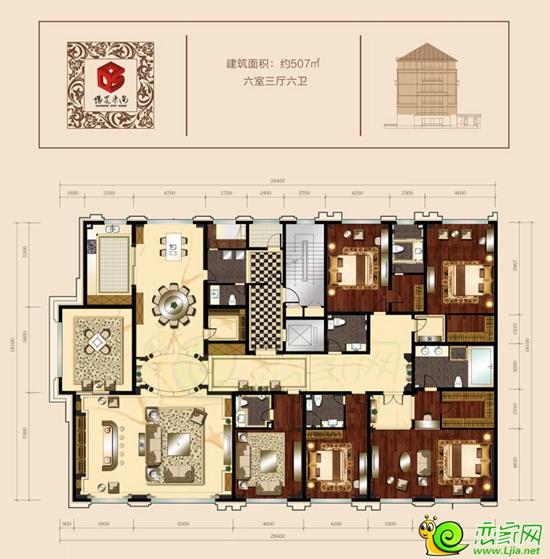 阳光东尚164-595㎡户型全景看 花园洋房里的家
