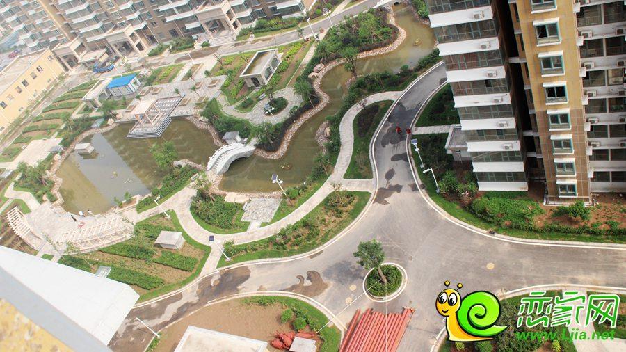 汉成华都东区园林俯瞰图-汉成华都小区最新进展 幼儿园和园林模样真