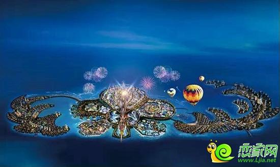 海南海花岛全景图