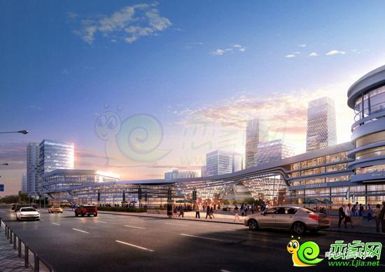 商业中心沿街效果图-东区中央商务区规划亮相邯城