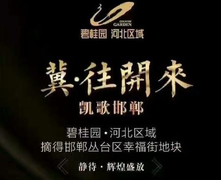 碧桂园·河北区域取得幸福街地块宣传图