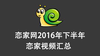 恋家网2016年7月至12月邯郸地产视频汇总