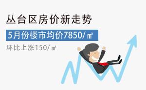 丛台区5月份房价最新走势环比上涨150元/�O